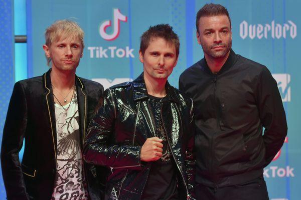 Le groupe anglais Muse sur le tapis rouge des MTV Europe Music Awards, le 4 novembre 2018.