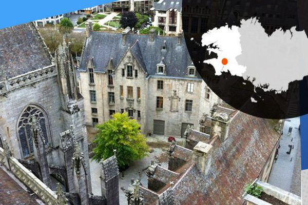 Vue du haut de la cathédrale de Quimper