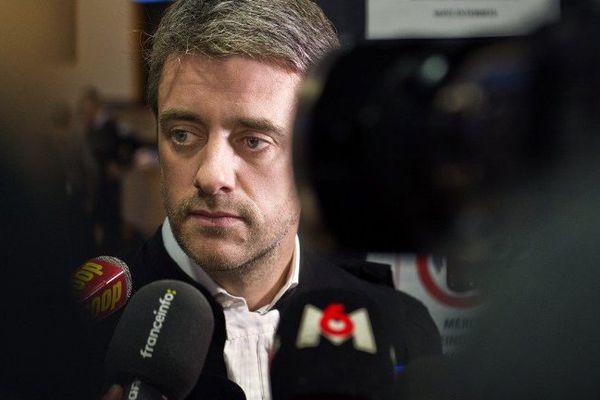 Renaud Portejoie, l'avocat de Cécile Bourgeon dans le procès de l'affaire Fiona qui se déroule du 14 au 25 novembre 2016 à Riom devant la cour d'assises du Puy-de-Dôme.