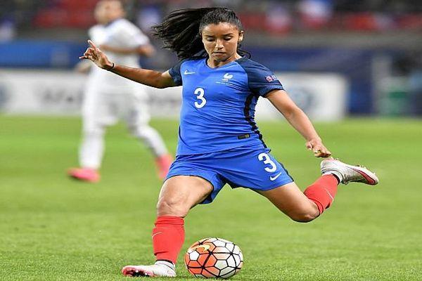 Sakina Karchaoui avec l'équipe de France - 2016.
