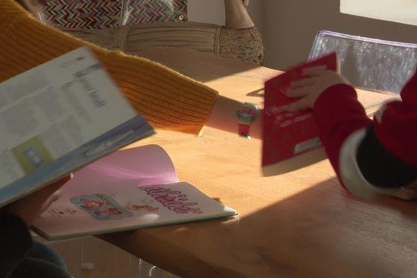 Réception du panier de livres surprises dans la famille Beaufils (Montivilliers, Seine-Maritime)