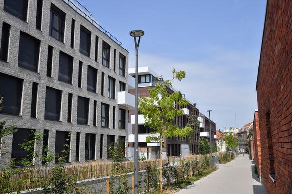 Rue de la Tranquilité dans le quartier Wazemmes à Lille