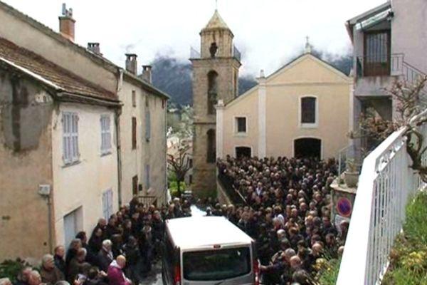 Près de 400 personens ont assisté aux obsèques de Dumè Gallet, le 21 avril dans son village de Riventosa