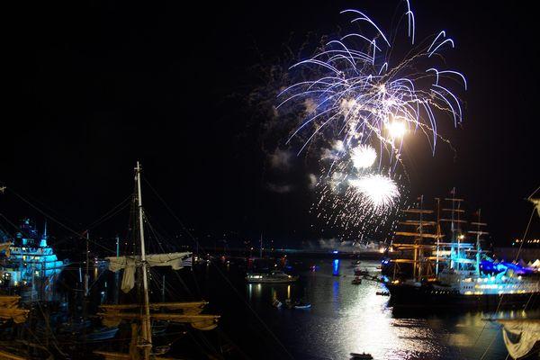 Le feu d'artifice de Brest 2012