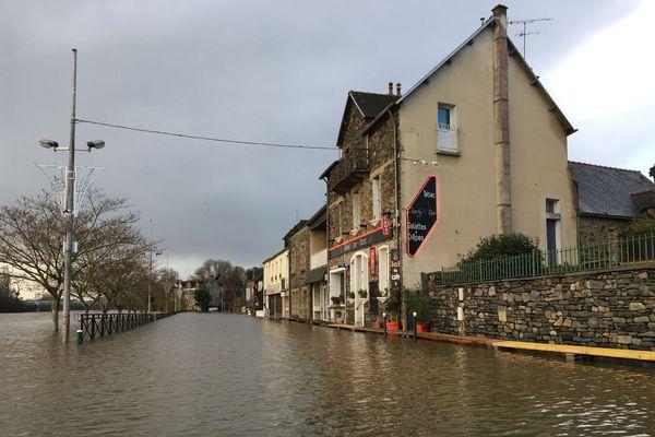 Une météo marquée encore par les pluies et les crues comme ici à Guipry -Messac dans le sud de l'Ille-et-Vilaine