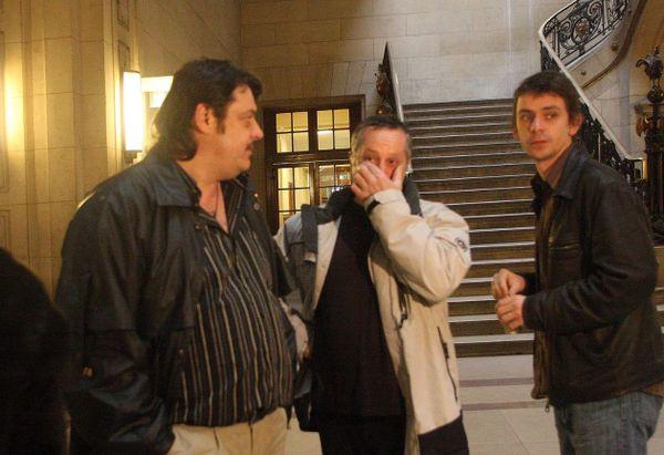 Procès en appel des militants bretons Pascal Laizé, Kristian Georgeault et Gael Roblin - Paris, le 17/11/2008