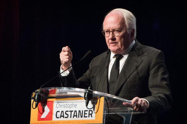 Michel Vauzelle lors du dernier meeting de Christophe Castaner le 3 décembre.