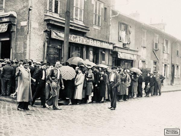 La rue Montmailler à Limoges en 1941