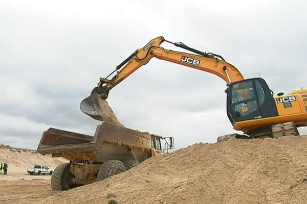 Un gros chantier s'est déroulé en février 2019 à la pointe du Cap Ferret pour le réensablement qui devrait s'étaler sur dix ans.