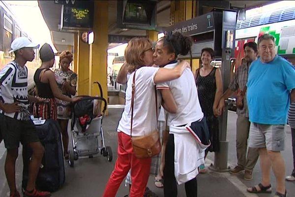 Hier soir 23 août 2016 à la gare de Limoges Jeanine Assani-Issouf retrouvait sa famille.