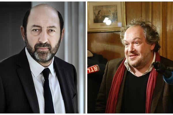 Le comédien Kad Merad et le prix Goncourt 2015, Mathias Enard.