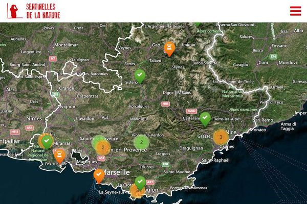 Une carte participative permet d'identifier les atteintes à l'environnement, ainsi que les bonnes initiatives.