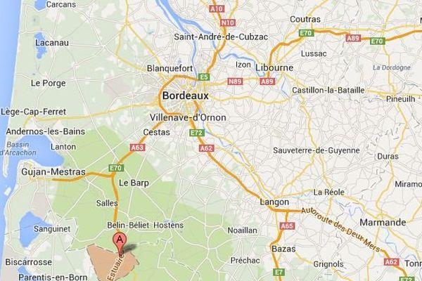 L'accident s'est produit à hauteur de Saugnacq-et-muret sur l'A63