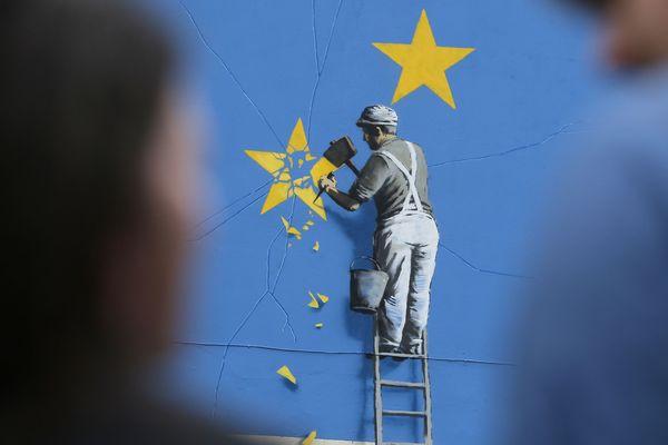 La fresque de Banksy à Douvres