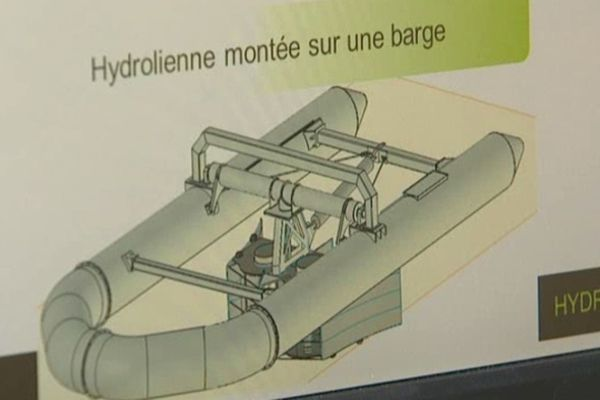 L' hydrolienne qui sera plongée dans la Loire sera construite sur un modèle similaire.