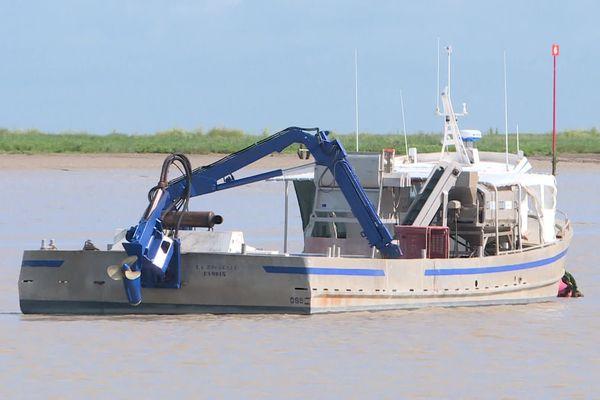 Au port de Charron (Charente-Maritime), les bateaux des mytiliculteurs sont privés de sortie.