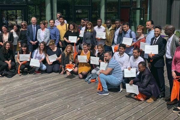 Les nouveaux diplômés du D.U. Français Langue Étrangère pour l'insertion des publics migrants, jeudi 20 Juin 2019 à l'Université de Bourgogne.