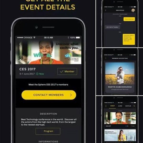 Quelques captures écran de l'application