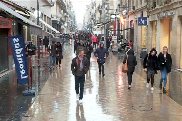 La rue Sainte Catherine à Bordeaux