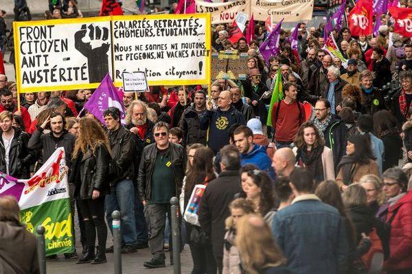 Une manifestation anti-loi Travail à Lille.