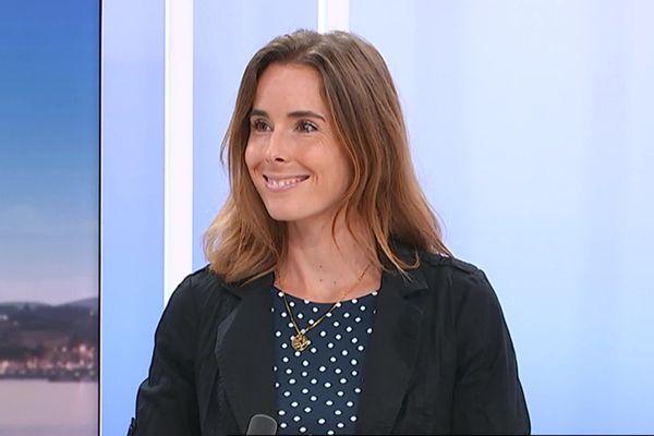 La joueuse de tennis niçoise Alizé Cornet, sur le plateau de France 3 Côte d'Azur