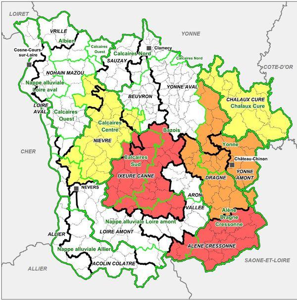 La situation hydrologique de la Nièvre au 16 juillet 2015