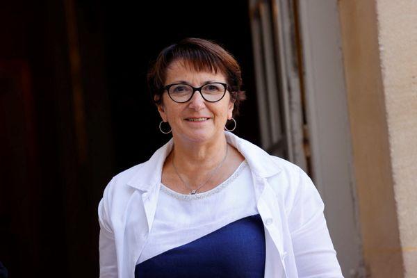 Christiane Lambert, présidente de la FNSEA, à l'hôtel Matignon, le 2 septembre 2021, avant un entretien avec le Premier ministre Jean Castex.