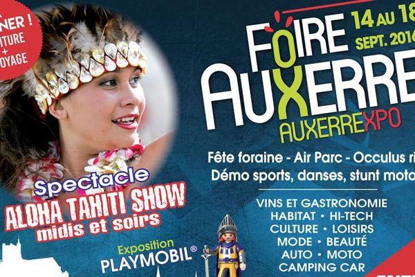 La foire d'Auxerre se déroule entre les 14 et 18 septembre 2016.