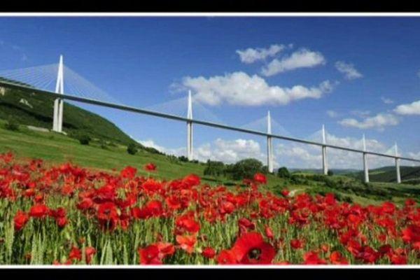 Cliché pris par Daniel Jamme, le photographe du Viaduc de Millau