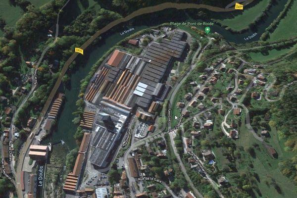 Le site d'Aperam, à Pont-de-Roide.