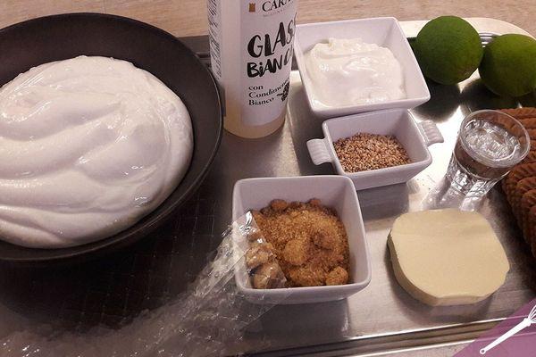 Les ingrédients du cheesecake aux spéculoos