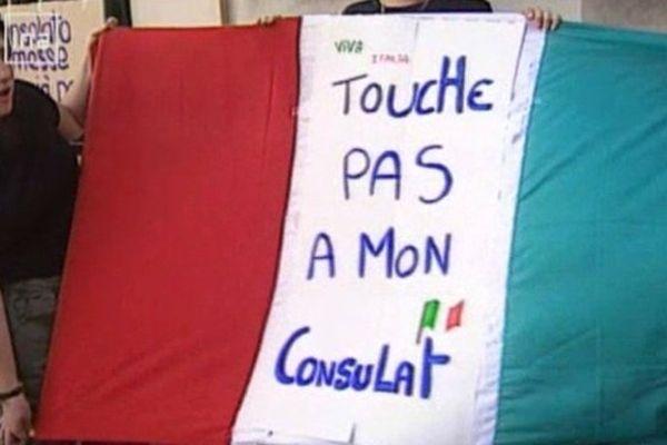 Comme il y a 14 ans, les Italiens de Grenoble se mobilisent aujourd'hui pour leur consulat.