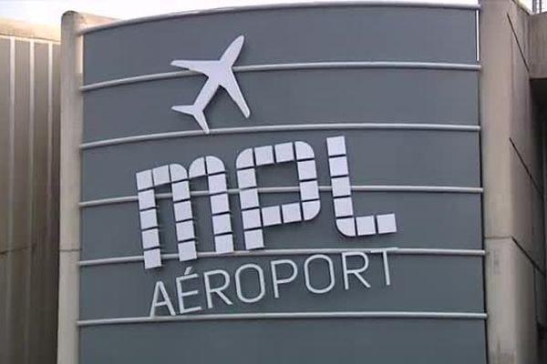 L'entrée de l'aéroport Montpellier Méditerranée