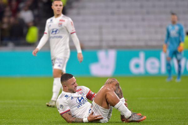 Memphis Depay a été victime d'une rupture du ligament croisé antérieur du genou gauche face à Rennes (1-0) dimanche en Championnat de France
