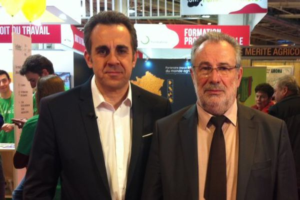Guy Vasseur, président de l'assemblée permanente des chambres d'agriculture avec Flavien Texier