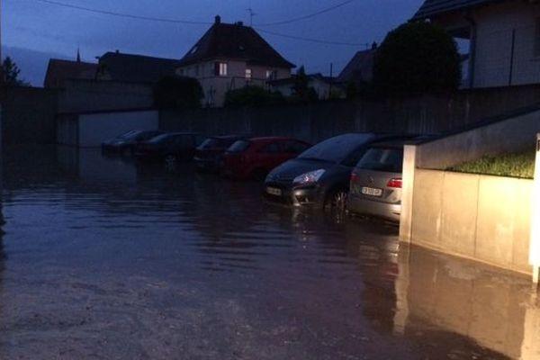 Inondations en pleine nuit à Geudertheim, près de Brumath
