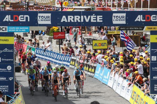 Arrivée de la 9e étape du Tour de l'Avenir, le 24 août 2019.