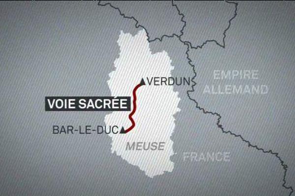 La route reliait...et relie Bar-le-Duc à Verdun