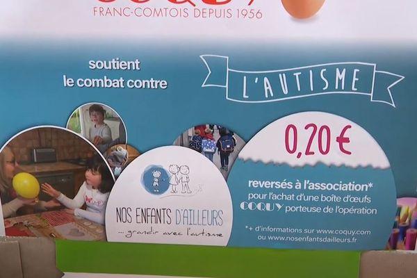 """Avec l'opération """"pastilles bleues"""", des entreprises de Franche-Comté se mobilisent au profit des familles ayant un enfant autiste."""