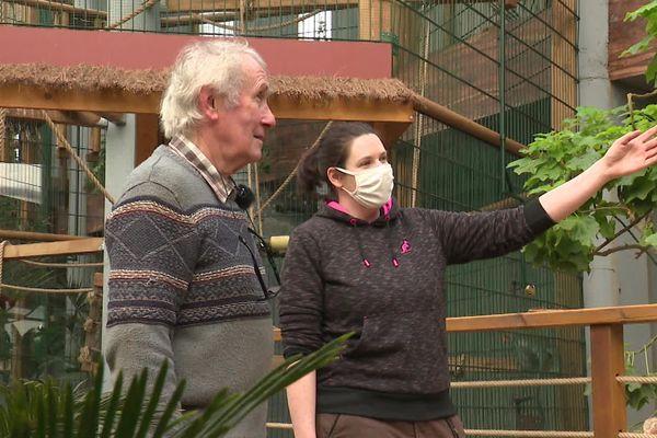 Pierre Thivillon, propriétaire du parc zoologique, s'inquiète pour le bien-être de ses animaux