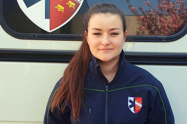 Gwendoline Lemblé, ambulancière dans le secteur de Burnaupt