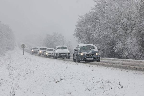 Circulation difficile le 14 janvier sur la D2 entre Mulhouse et Wittelsheim à cause des chutes de neige