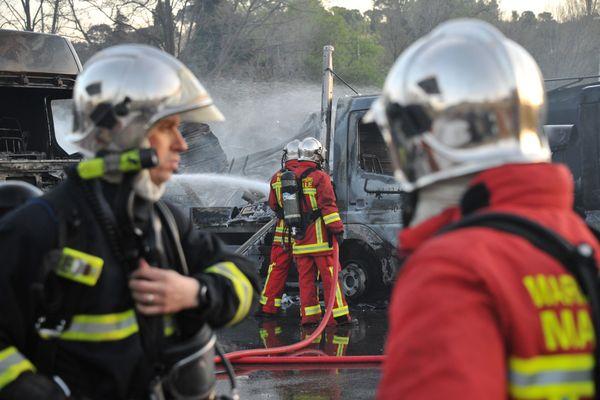 Les marins-pompiers de Marseille en exercice en 2011.