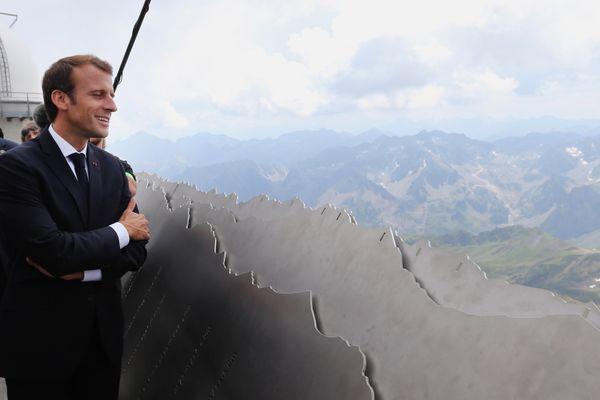 Emmanuel Macron au Pic du Midi le 26 juillet 2018.