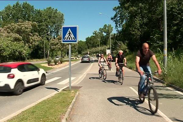 Des centaines de vélos ont roulé sur les pistes cyclables de Villeneuve-Loubet ce dimanche.