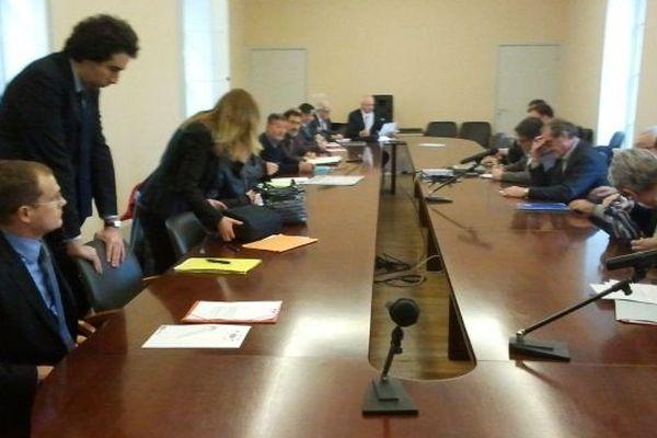 La réunion en préfecture à Carcasonne