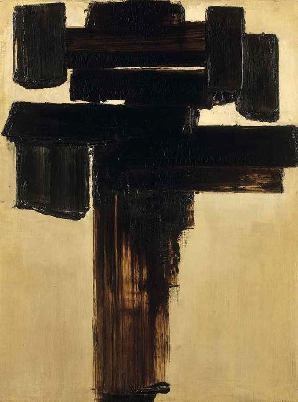 Peinture 81 x 60 cm, 3 décembre 1956.Huile sur toile, signée en bas à droite, resignée, datée 12-56-1-57 au dos, 81 x 60 cm
