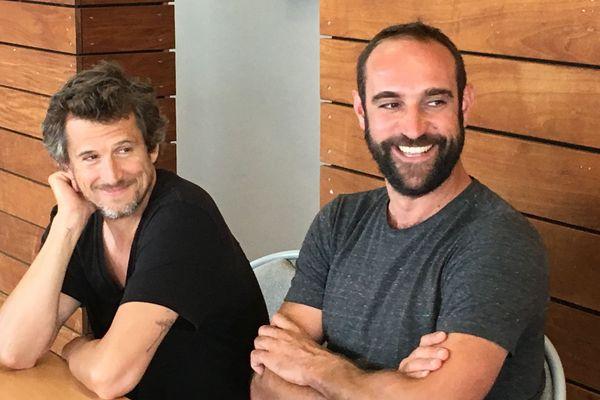 """Guillaume Canet, cette fois comédien, et Edouard Bergeon, réalisateur, présente le film """"Au nom de la terre"""" au cinéma UGC de Pessac mardi 27 août 2019."""