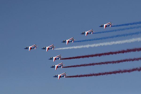 Samedi 6 juillet, la Patrouille de France va effectuer un passage en fin de matinée au-dessus du puy de Dôme.