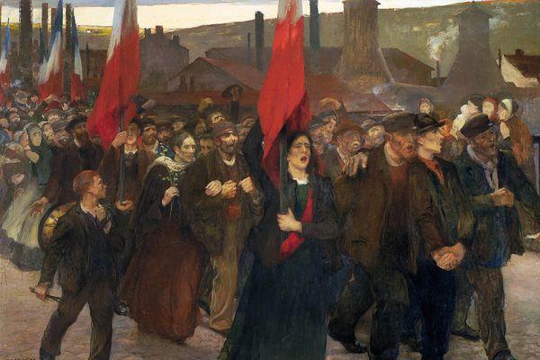 """""""La grève - Le Creusot"""" de Jules Adler"""